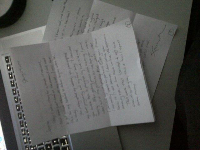 Carta Original / Foto: Jeanine Thurston